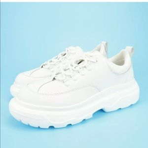 Steve Madden Burly White Leather Dad Shoes